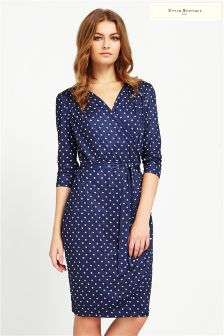 Uttam Boutique Mini Daisy Long Sleeved Wrap Dress