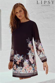 Lipsy Oriental Floral Print Shift Dress
