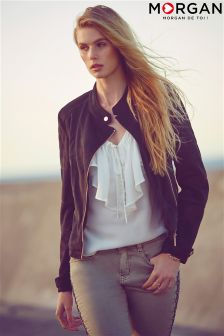 Morgan Suedette Biker Jacket