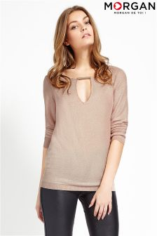 Morgan 3/4 Sleeve Front Drop Jumper
