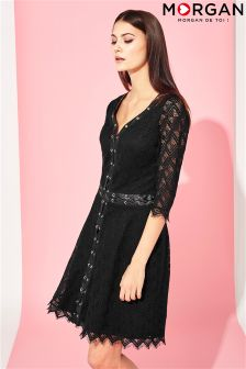 Morgan Lace Fit And Flare Dress