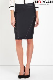 Morgan Faux Leather Pencil Skirt