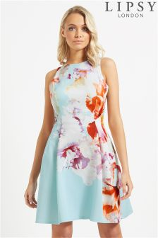 Lipsy Floral Printed Prom Dress