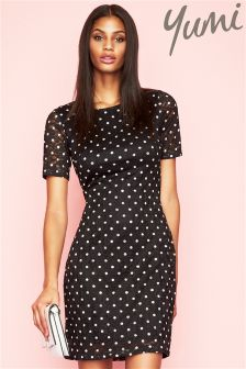 Yumi Spot Lace Dress