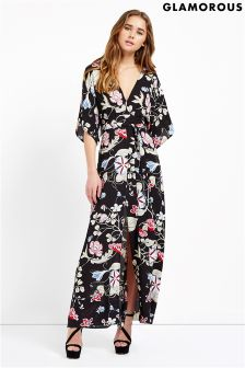 Glamorous Floral Tie Waist Dress