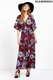 Glamorous Print Kimono Maxi Dress