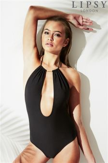 Lipsy Deep V Swimsuit