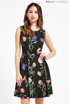 Mela Loves London Botanical Print Skater Dress