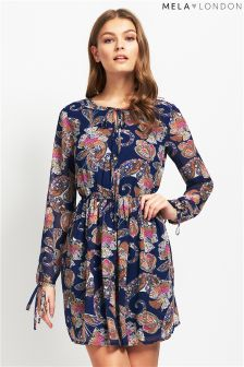 Mela Loves London Sleeved Butterfly Shift Dress