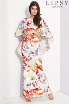 Lipsy Floral Cape Maxi Dress