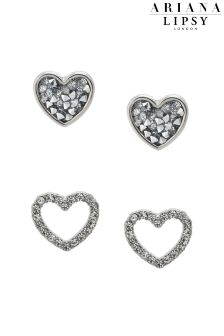 Ariana Grande For Lipsy Heart Duo Earrings