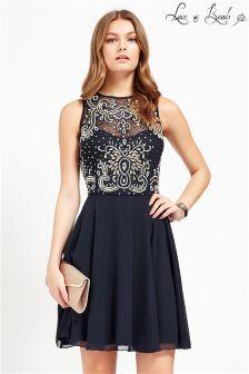 Lace & Beads Embellished Prom Dress