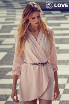 Love Crossover Long Sleeve Playsuit