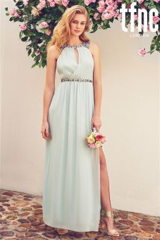tfnc Embellished Detail Maxi Dress