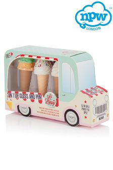 Npw Ice Cream Van Lip Gloss And Pen Set