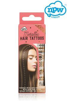 Npw Metallic Hair Tattoos