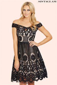 Sistaglam Bardot Lace Dress