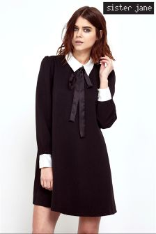 Sister Jane Coven Contrast Bow Tie Dress