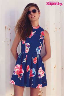 Superdry Floral Print Scuba Skater Dress