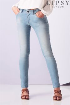 Lipsy Light Wash Denim Skinny Jeans
