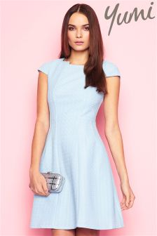Yumi Textured Ponte Party Dress