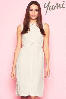 Yumi Linen Shirt Dress