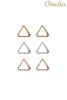 Orelia Open Triangle Earring 3 Pack