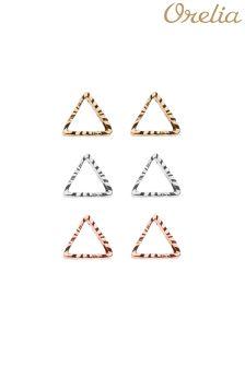 Orelia Open Triangle Earring 3 Pack