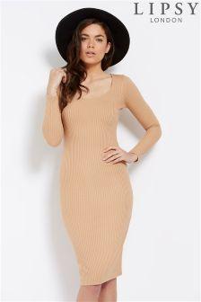 Lipsy Split Back Bodycon Dress