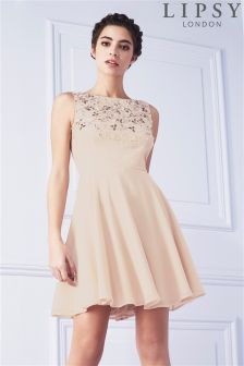 Lipsy Embellished Top Skater Dress