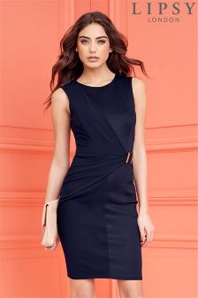 Lipsy Belted Drape Detail Dress