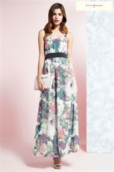 Uttam Boutique Cherry Blossom Print Maxi Dress