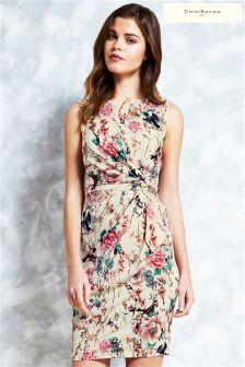 Uttam Boutique Japanese Garden Twist Knot Jersey Dress