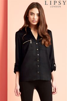 Lipsy Zip Pocket Blouse