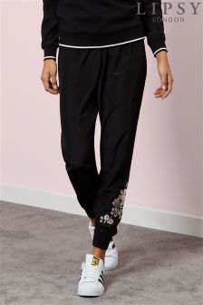 Lipsy Soft Woven Embroidered Cuff Joggers