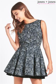 Jones + Jones Paisley Skater Dress
