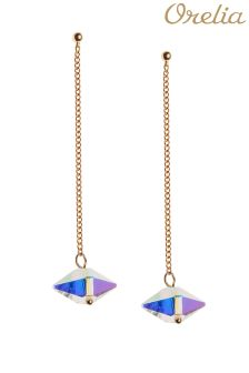 Orelia Prism Bead Chain Drop Earrings