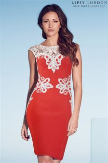 Lipsy Love Michelle Keegan Appliqué Shift Dress