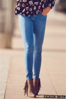 Fashion Union Light Wash Skinny Jeans