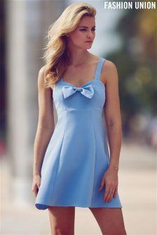 Fashion Union Bow Detail Skater Dress