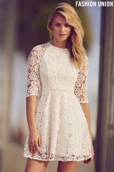 Fashion Union Lace Skater Dress