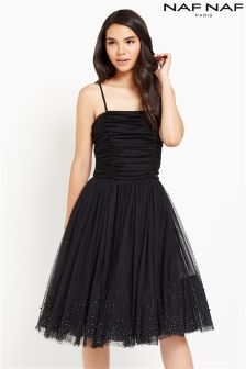 Naf Naf Strapless Prom Dress