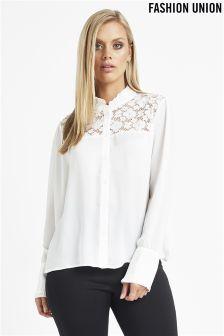 Fashion Union Lace Shirt