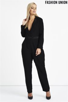 Fashion Union Curve Long Sleeved Jumpsuit