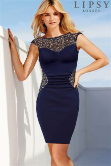 Lipsy Lace Sequin Shift Dress