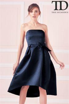 True Decadence Bow Detail Prom Dress