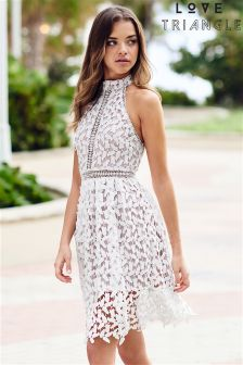 Love Triangle Always And Forever Lace Midi Dress