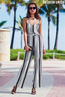 Fashion Union Stripe Jumpsuit