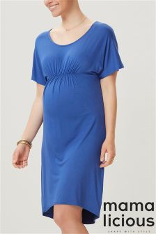 Mamalicious Maternity Drape Jersey Dress
