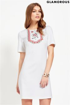 Glamorous Embroidered Shift Dress